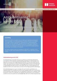 Ambulantisering van de ggz tussen 2012 en 2019