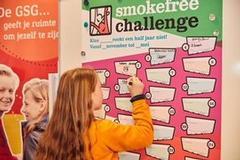 Duizenden leerlingen doen mee aan de smoke free challenge